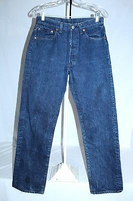 Vtg Levis 501 Button Fly,Black Bar Tack Jeans SF207, #532, Men's 33 x 33, USA