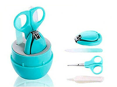 Baby Grooming Kit With Scissors Nail Clippers File Newborn Infant Toddler New
