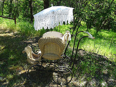 antique Heywood baby carriage stroller buggy photography prop