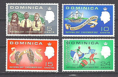 Dominica ,1967, National Day ,  Elizabeth Ii , Set Of 4 , Perf , Vlh