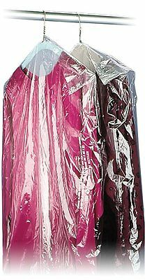 "40"" 21x7 Crystal Clear Plastic Dry Cleaning Poly Garment Bags - 600 Bags / Roll"