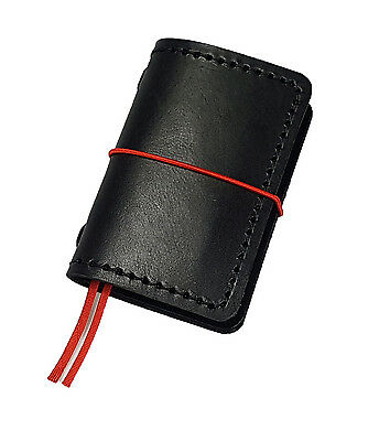 minimal leather cover case for pocket size notes notebook journal organizer