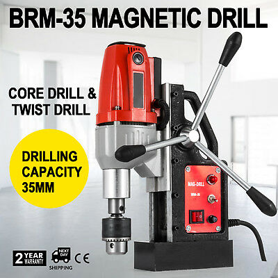 BRM35 Magnetic Drilling Machine Mag Drill 35mm 50mm Depth Transportable  NEWEST