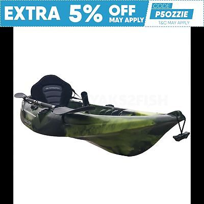 2.7M Fishing Kayak Single 2017 Sit On Top Seat Paddle Package Brisbane Moss Camo