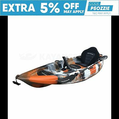 2.7M Fishing Kayak Single 2017 Sit On Top Seat Paddle Package Brisbane Coral