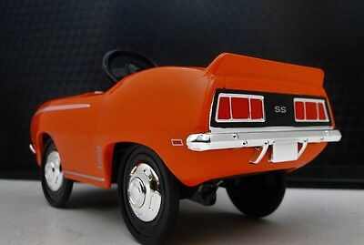 1969 Camaro Chevy Pedal Car A Vintage Muscle Hot Rod Midget Metal Show Model
