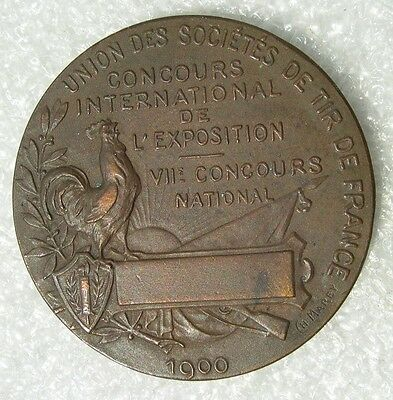 MEDAILLE EXPOSITION UNIVERSELLE 1900 JEUX OLYMPIQUES  olympic games concours tir