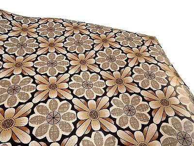 Vintage Retro Mid Century Roll of Flower Power Wall Paper 60s 70s - Floral