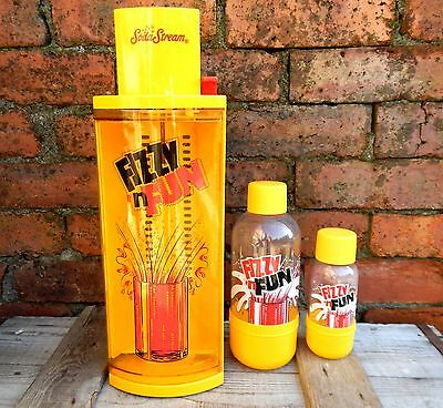 Vintage Soda Stream Fizzy n Fun Limited Edition Bottles & Cylinder Cannister