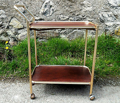 Vintage Retro 1950s Hostess Serving Tea Trolley Two Tier - Mid Century  #4