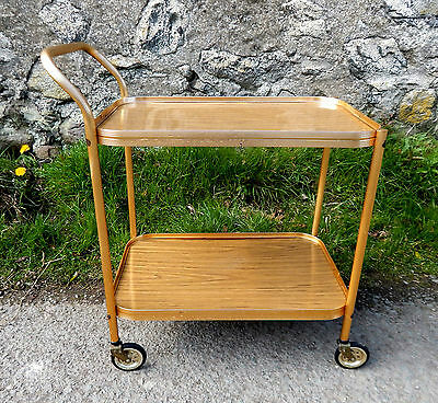 Vintage Retro 1950s Hostess Serving Tea Trolley Two Tier - Mid Century  #7