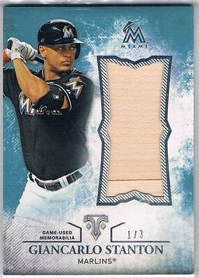 2015 Topps Triple Threads Unity Relics Sapphire #UJRGST Giancarlo Stanton #1/3