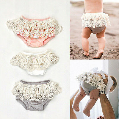 Baby Girl Tassels Ruffle Shorts Pants Bloomers Diaper Cover Clothes Outfit Sets