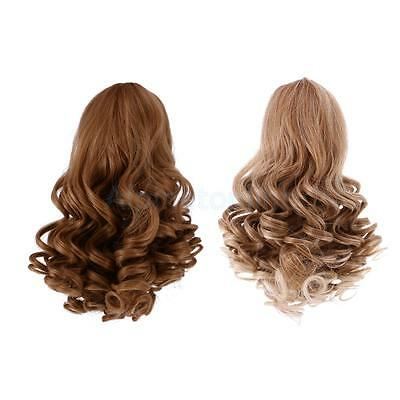 2pc Wavy Curly Hair Wig for 18inch American Girl Doll DIY Making ACCES #1+#3