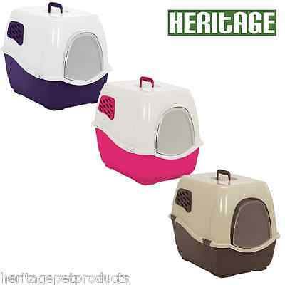 Genuine Heritage Sumo Hooded Cat Loo Toilet Litter Tray With Door & Free Filter