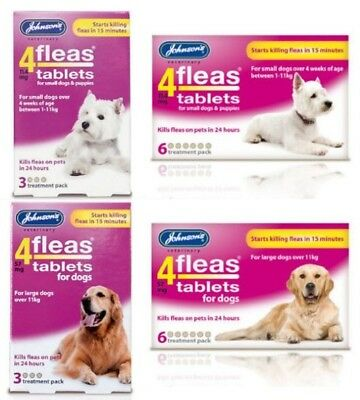 Johnson's 4 Fleas Tablets for Large & Small Dogs - Flea Tablets