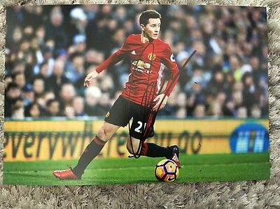 Ander Herrera Manchester United Fc Red Devils Hand Signed 12X8 Photo