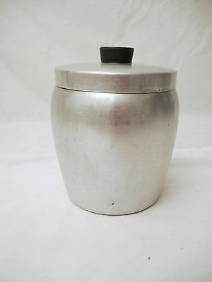 Vintage Aluminum Canister - Spun Aluminum - No Writing On Canister