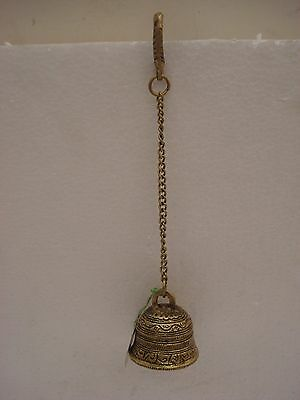 Indian Brass Traditional Religious Prayer HANGING BELL - BRASS (1625)