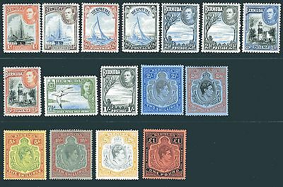 BERMUDA-1938-53  A mounted mint set to £1 Sg 110-121d