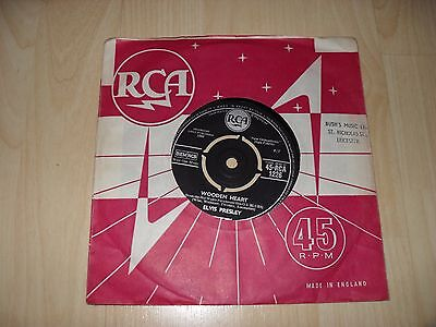 "Elvis Presley - Wooden Heart (Uk 1960 4 Prong Centre 7"" Single) Rca 1226"