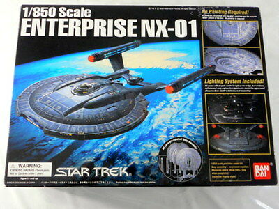 STAR TREK 1/850 Scale ENTERPRISE NX-01 BANDAI Model Kit Japan