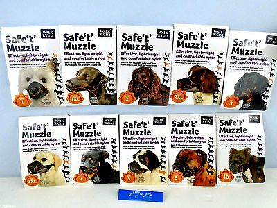 Walk 'R' Cise Safe 't' Muzzle Dog Puppy Mesh Safety Dog Muzzle