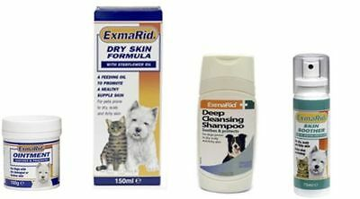 Exmarid for Dry Itchy Skin Formula Cats Dogs Puppies - Cream Spray Oil Shampoo