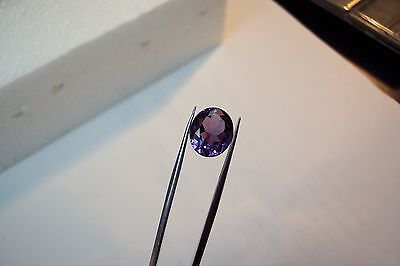 stunning  lab created man made 14x12 oval alexandrite faceted color change