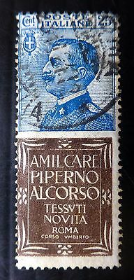 ITALY 1924 RARE Imperf with PIPERNO Advertisement Used NB1000