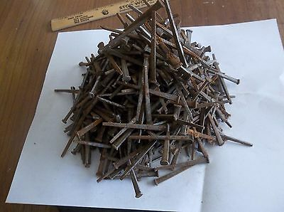 "3 lbs lot of 2"" Antique Vintage Square Cut Nails Arts Craft Woodworking"