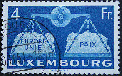 Luxembourg 1951 4f To Promote United Europe SG548 Fine Used cat value £75