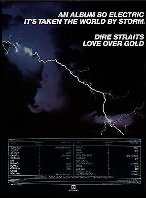 "1983 Dire Straits ""love Over Gold"" Album Promo Ad"