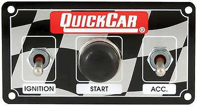 QUICKCAR RACING PRODUCTS 4-5/8 x 2-1/2 in Dash Mount Switch Panel P/N 50-020