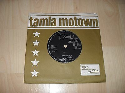 "The Temptations - It's Summer (Uk 1971 7"" Inch Single) Tamla Motown Tmg 783"