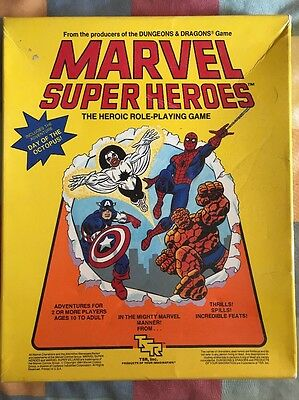 Marvel Super Heroes Role Playing Game RPG TSR 1984