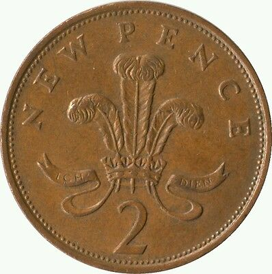 2p coin with NEW PENCE 1978