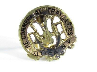 Gold Filled Pin with The Commercial Traveleres Insurance Logo Utica NY