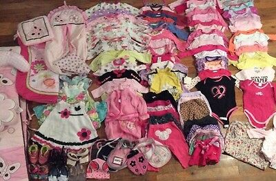 Over 16 Lbs - 101 Piece Baby Girl Clothes Clothing Lot NB 0-3 3-6  Footy