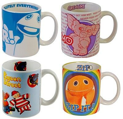 Funky Retro Mugs - RAINBOW GREMLINS PIGEON STREET - GREAT GIFTS RETRO TELEVISION
