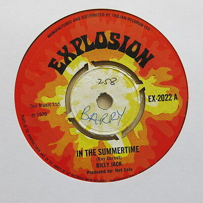 "BILLY JACK In The Summertime NAT COLE Apollo Moon Rock UK 7"" Explosion EX 2022"