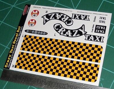 Crazy Taxi Decal Set for Monogram's Paddy Wagon 1:24 Scale BIN30