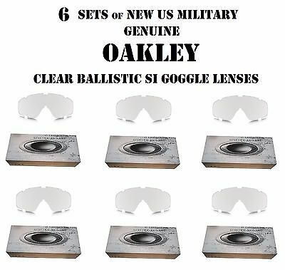 OAKLEY TACTICAL SI BALLISTIC GOGGLE HALO ARRAY LENSES CLEAR US MILITARY LOT of 6