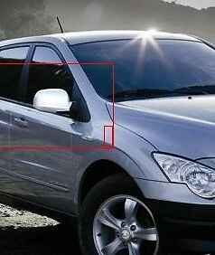 Chrome Side Mirror Full Cover Molding 2p 1Set For Ssangyong Actyon/Sport '05-'13