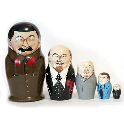 Stalin and other Russian Political Leaders Collectible Matryoshka Nesting Doll