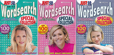 Wordsearch Books - 3 Book set - over 300 Puzzles - New  (Set 105)