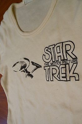 Vintage Authentic 1979 STAR TREK The Motion Picture OLD T-Shirt Girls Small