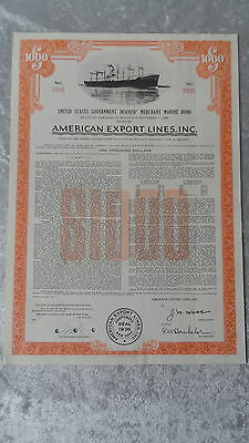 American Export Lines-Inc.United States Government  Insured Merchant Marine Bond