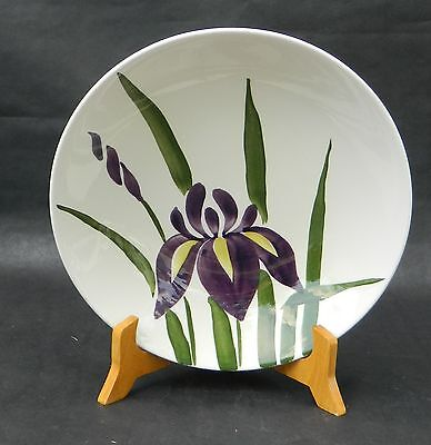 AMERICAN HERITAGE DINNERWARE - Hand Painted - PURPLE IRIS - VEGETABLE BOWL - 9""