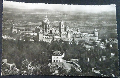 Antigua Postal Monasterio De El Escorial Vista General  Madrid Cc4251